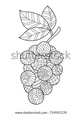 Outlined Zentangle Antistress Coloring Page Appletree