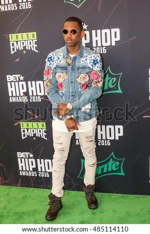 Fabolous Attends 2016 BET Hip Hop Stock Photo Royalty