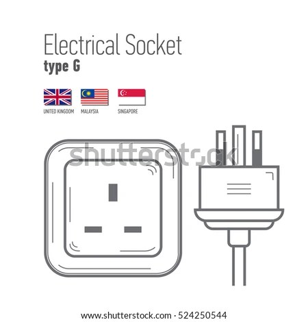 Switches Sockets Set Type B Ac Stock Vector 514869403