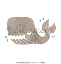 whale cartoon angry sperm giant freehand illustration retro drawing shutterstock vector whales