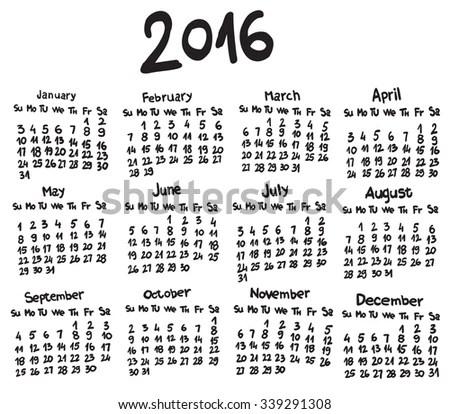 Calendar 2014 April Sketch Style Stock Vector 158710055