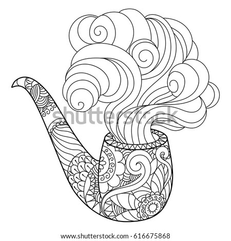 Heart Design Coloring Book Vector Illustration Stock