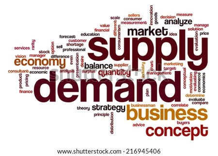 Supply Demand Concept Word Cloud Background Stock Illustration 216945406  Shutterstock