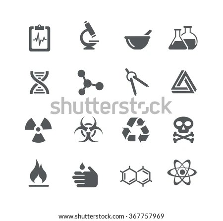 Science Signs Symbols Utility Series Stock Vector (Royalty