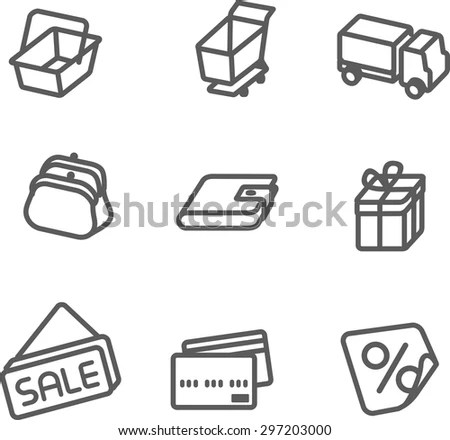 Computer Line Icons vector Files Stock Vector 505675474