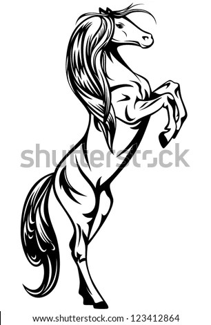 Rearing Horse Stock Images, Royalty-Free Images & Vectors