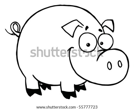 Pig Outline Stock Images, Royalty-Free Images & Vectors