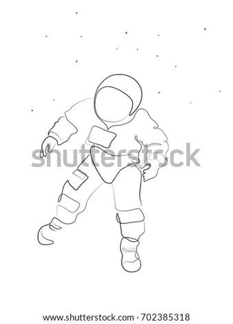 Astronaut Floating Stock Vectors, Images & Vector Art