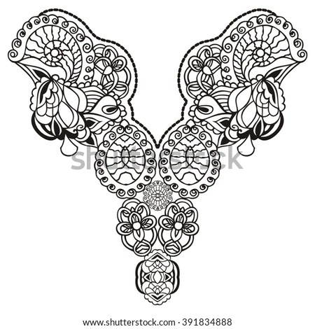 Set Different Lace Patterns Stock Vector 125443823