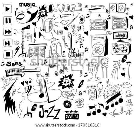Funny Musical Note Symbol Stock Photos, Images, & Pictures