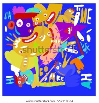 Funny Doodle Vector Illustration Have Fun Stock Vector
