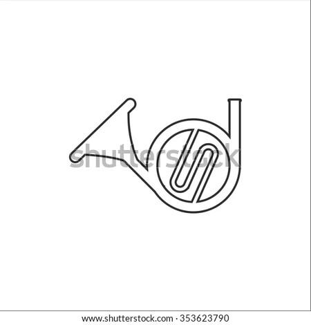 Trumpet Icon Isometric 3d Stock Vector 422124817
