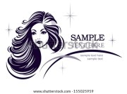 hair stile icon girls face rasterized