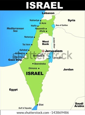 Vector Map Israel Saved Illustrator 80 Stock Vector