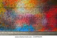 Brick Wall Graffiti Stock Images, Royalty
