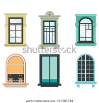 Retro Wood Wooden Window Frames View Stock Vector ...
