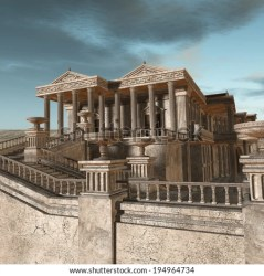 greek fantasy background olympia ancient render illustration olympics building shutterstock greece preview athens tiles wall