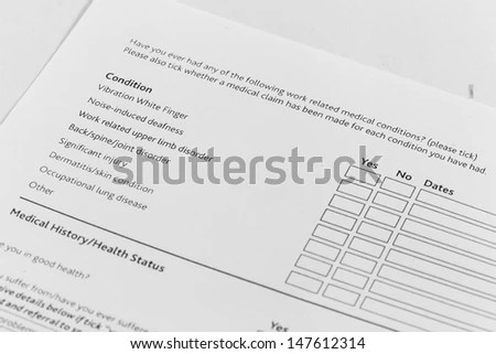 Customer Feedback Form Survey Concept Many Stock Photo