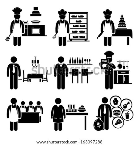 Low Income Jobs Occupations Careers Garbage Stock Vector