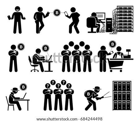 Mining Worker Miner Labor Stick Figure Stock Illustration