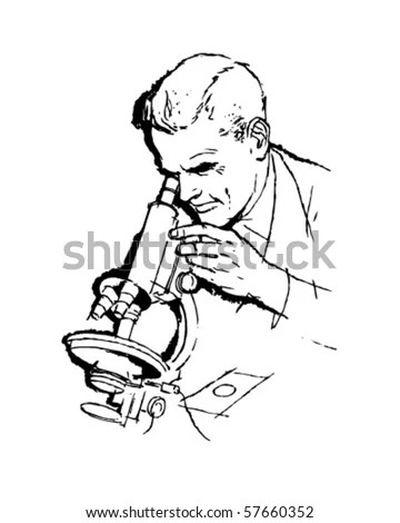 Microscope Drawing Stock Images, Royalty-Free Images