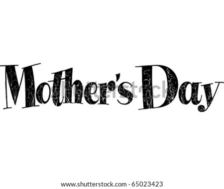 Thoughtful Tributes Mothers Day Ad Banner Stock Vector