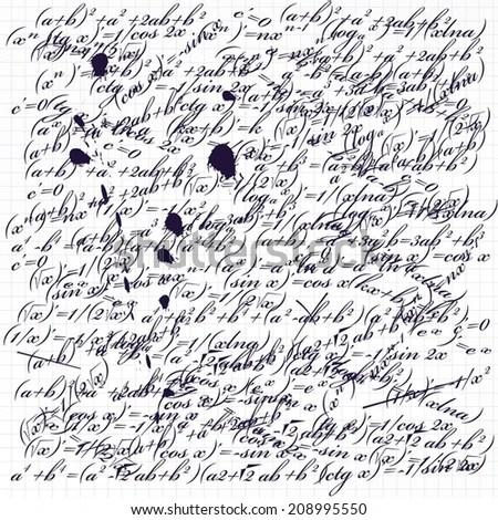 Seamless Pattern Handwriting Text Stock Vector 148616270