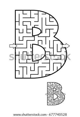 Maze Game Enter Door 1 Get Stock Illustration 194035448