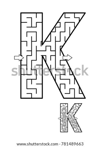 Maze Letter Stock Images, Royalty-Free Images & Vectors