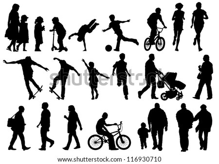 Children Silhouette Stock Images, Royalty-Free Images