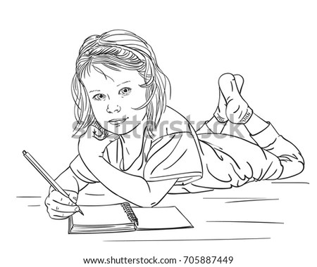 Woman Laying Coloring Pages