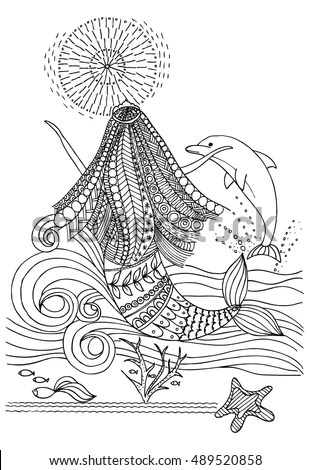 Hand Drawn Mermaid Stock Images, Royalty-Free Images