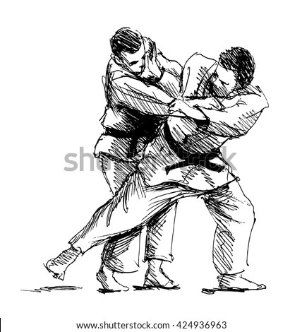 Judo Technique Drawings