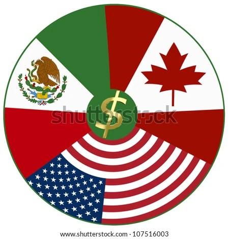 NAFTA North American Free Trade Agreement Stock Illustration 107516003 - Shutterstock