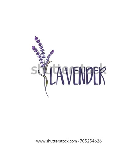 Template Logo Design Abstract Icon Lavender Stock Vector