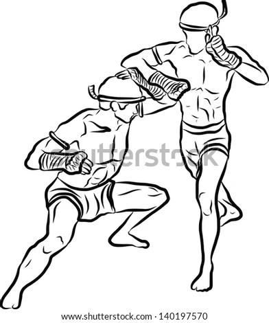 Martial Arts Graphics Muay Thai Certificate Template