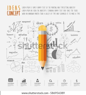 pencil simple yellow vector illustration shutterstock strategy drawing plan