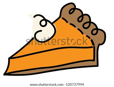 hot thanksgiving pie stock vector