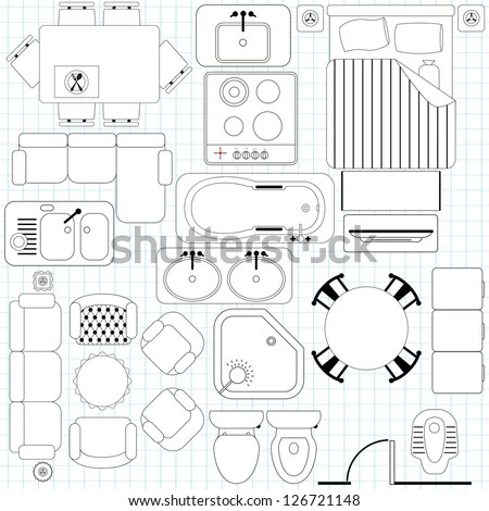 House Floor Plan Symbols House Plans With Furniture