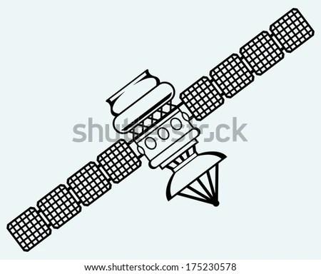 Satellite Dish Antenna Doodle Style Stock Vector 123630241