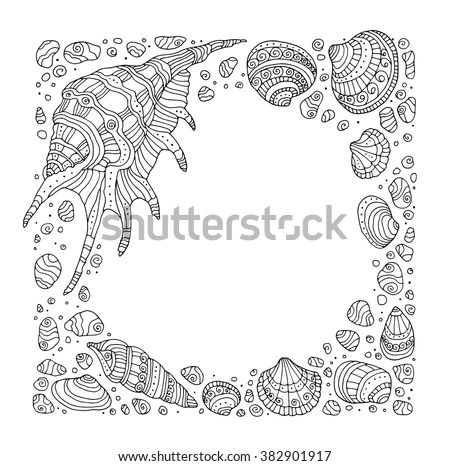 Shell Border Stock Images, Royalty-Free Images & Vectors