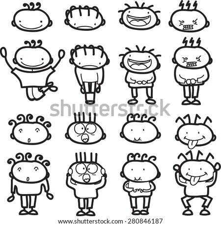 Child Different Emotions Stock Images, Royalty-Free Images