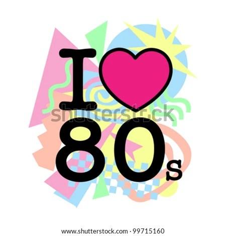 80s fashion stock royalty-free