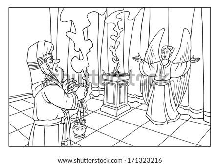 Zacharias Angel Gabriel Christmas Event Stock Illustration