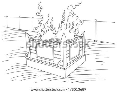 Altar Burnt Offerings Stock Illustration 478013689