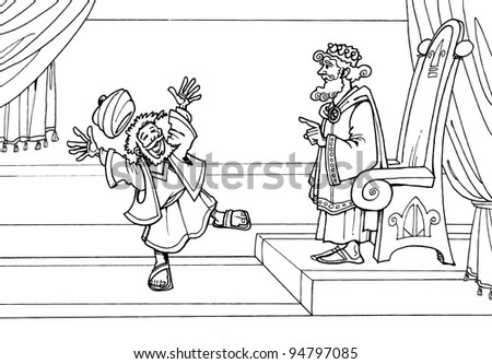 Parable Jesus Christ About King Just Stock Illustration