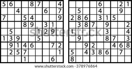 Sudoku Stock Photos, Royalty-Free Images & Vectors
