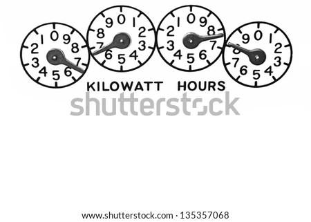 Conventional mechanical Kilowatt hour electric meter