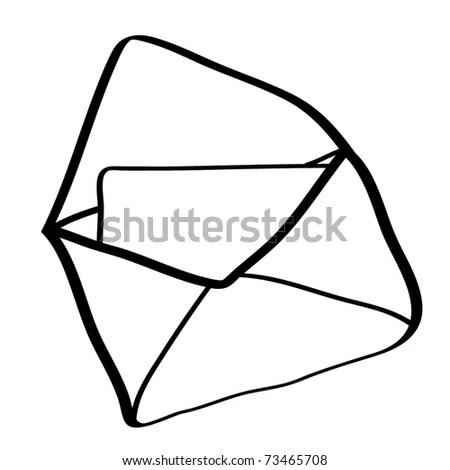 Letter Envelope Cartoon Stock Illustration 96180581