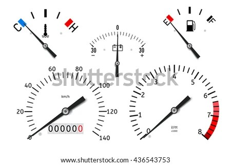 Dashboard Temperature Fuel Accumulator Charge Gauge Stock
